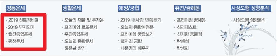 2019년 토정비결